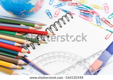 student and office accessories  back to school concept