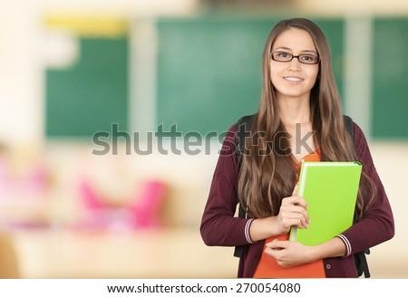Student. Beautiful Student - stock photo