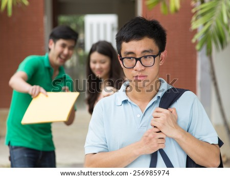 Student being made fun of - stock photo