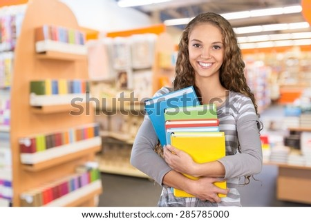 Student, College Student, Library. - stock photo