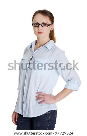 Student girl portrait - stock photo