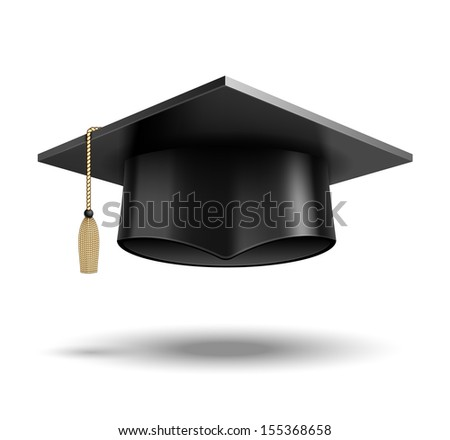 Student hat. See also vector version - stock photo