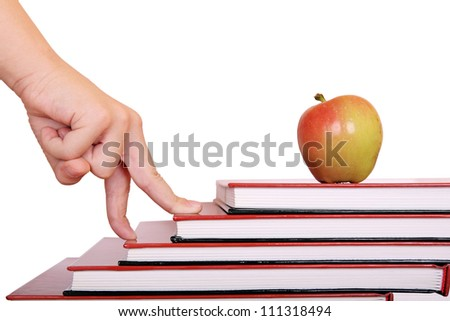 student is making progress at school - stock photo