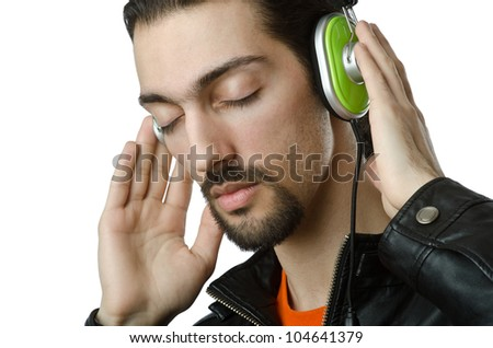Student listening to the music