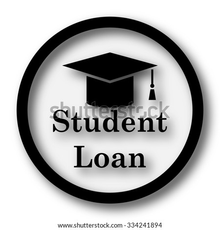 Student loan icon. Internet button on white background.