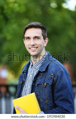 Student near university  - stock photo