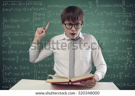 student reading a book - stock photo