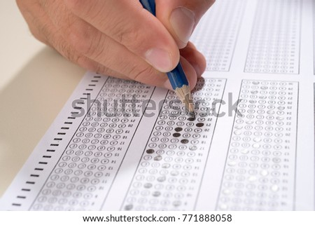 Student Taking Test