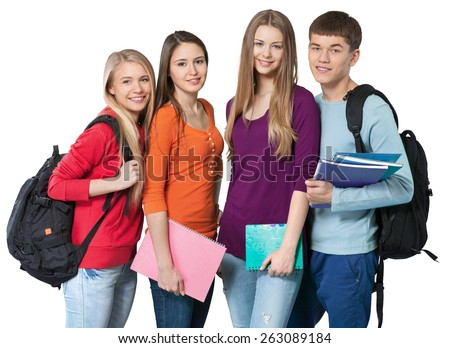 Student, Teenager, College Student. - stock photo