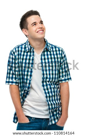 Student teenager dreaming about something - stock photo
