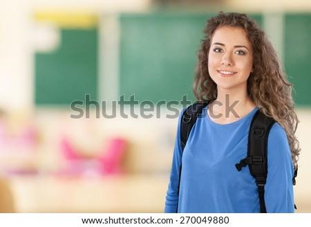 Student. Young Hispanic Student - stock photo