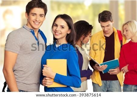 Students. - stock photo