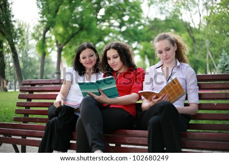 Students are trained in the park for exams