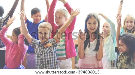 Students Children Cheerful Happiness Concept