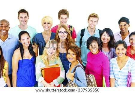 Students College University Education Group Concept - stock photo