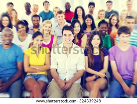 Students Diversity Learning Education Knowledge Happiness - stock photo