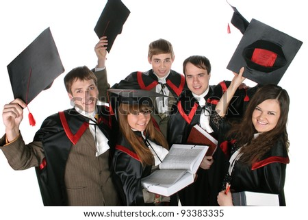 students in gowns for exams