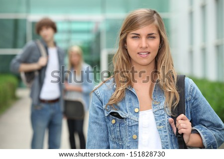 Students leaving school