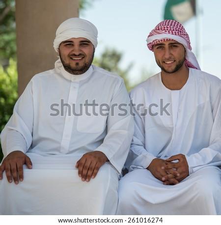 Students on university campus - stock photo
