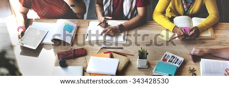 Students School Studying Learning Education Concept - stock photo