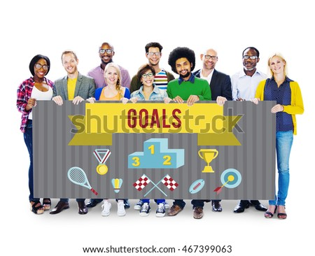 Students Team Holding Whiteboard Togetherness Concept