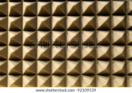 Studio acoustic foam - stock photo