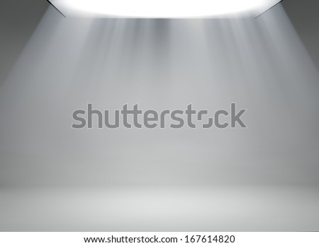 Studio background with large softbox - stock photo