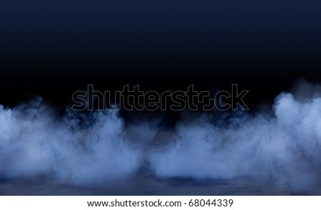Studio background with smoky effect - stock photo