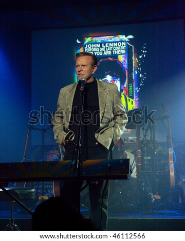 STUDIO CITY, CA - JAN 28: Bob Eubanks attends John Lennon last concert Just Imagine starring Tim Piper as John Lennon on January 28, 2009 in Studio City, California. - stock photo