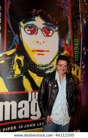 STUDIO CITY, CA - JAN 28: Jaime Gomez attends John Lennon last concert Just Imagine starring Tim Piper as John Lennon on January 28, 2009 in Studio City, California.