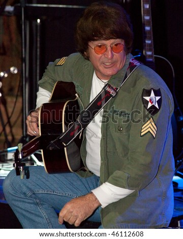 STUDIO CITY, CA - JAN 28:Tim Piper performs as John Lennon at The Platinum theatre on January 28, 2009 in Studio City, California. - stock photo