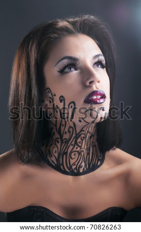 Studio conceptual female beauty portrait