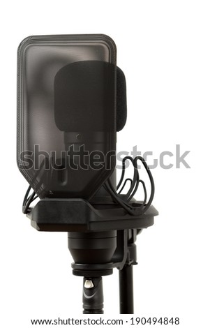 Studio condenser microphone - stock photo