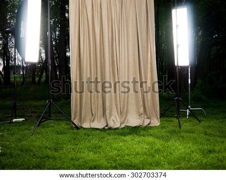 studio equipment background