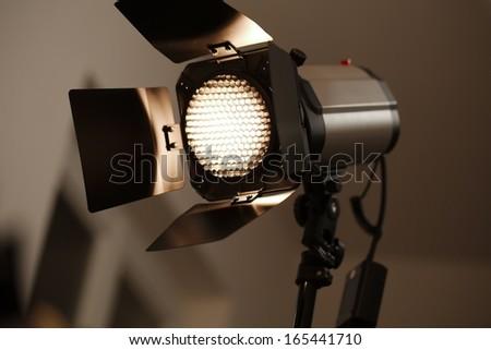 Studio flash light photography equipment - stock photo