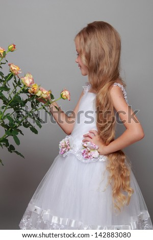 Studio image of a beautiful little girl