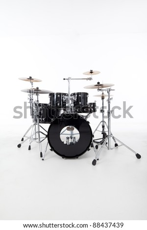 studio image of drums on white background - stock photo
