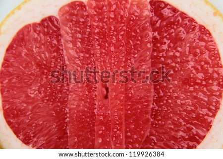 Studio image of grapefruit slice with clipping path