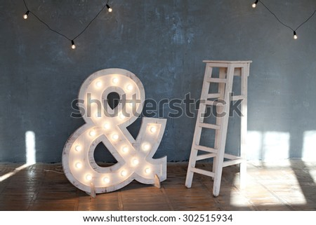 Studio interior - stock photo