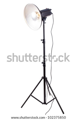 Studio lighting isolated on the white background