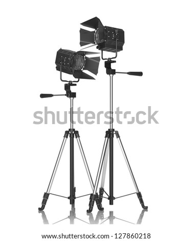 Studio Lighting Isolated on White.