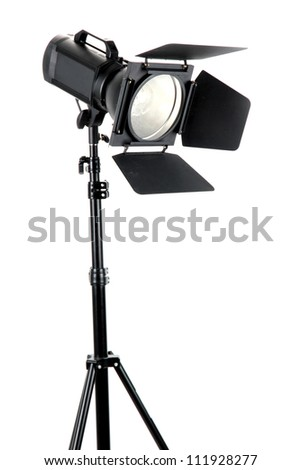 Studio lighting on white background close-up
