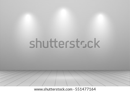 Studio lights background vector illustration