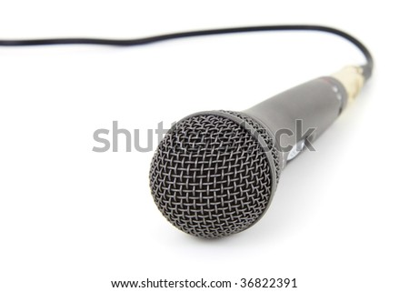 Studio microphone isolated on white background