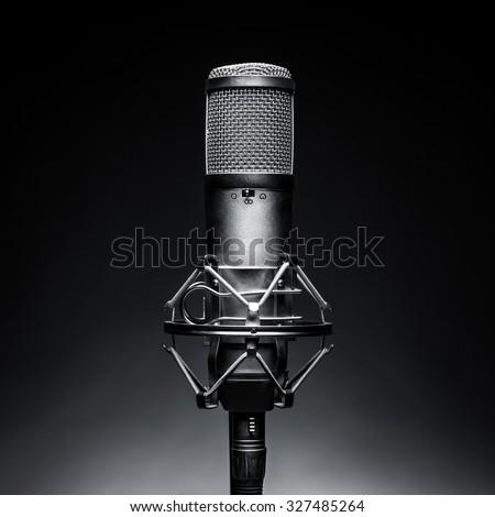 Microphone black background Music
