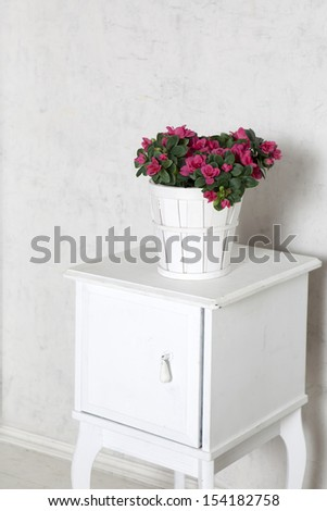 Studio photographing of an interior of a living room - stock photo
