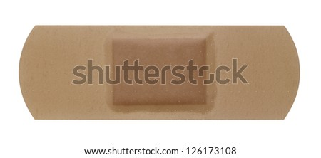 studio photography of a adhesive tape isolated on white
