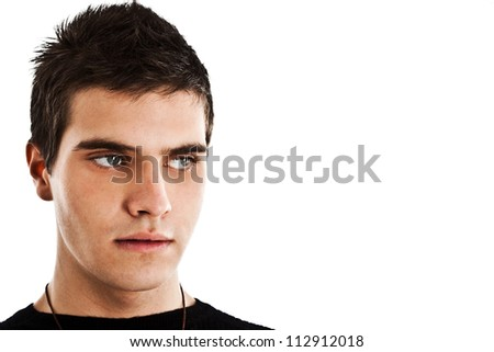 Studio portrait of an attractive young man - stock photo