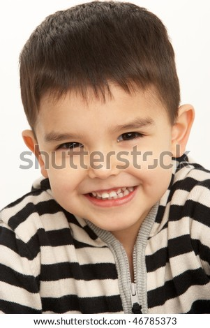 Studio Portrait Of Young Boy - stock photo