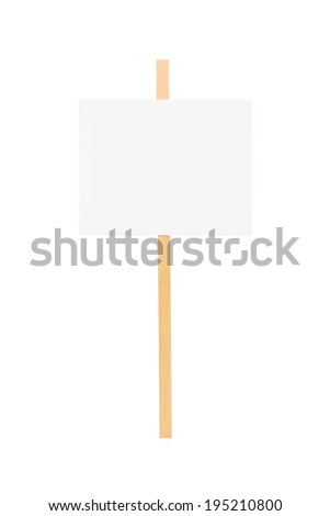 Studio shot of a blank banner isolated on white background - stock photo